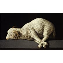 'Zurbar Agnus Dei (The Lamb of God) 1635 40 ' oil painting, 30 x 50 inch / 76 x 128 cm ,printed on Perfect effect canvas ,this High Resolution Art Decorative Prints on Canvas is perfectly suitalbe for Gym artwork and Home decoration and Gifts