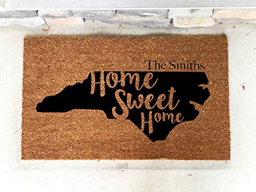 - Personalized NC North Carolina Home Sweet Home Custom Door Mat Home 18