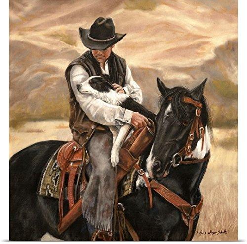 Victoria Wilson Schultz Poster Print entitled All a Cowbo...
