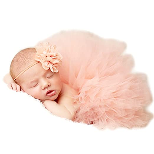 Auberllus newborn baby photography props for baby girl 0 3 months photo shoot props tutu