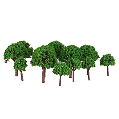 50 Pcs Artificial Tree Model Mini Simulation Tree Miniature Diorama Models Architecture Landscape Scenery Decor Table Decoration Ornament DIY Craft Toy Model 1:500: Toys & Games