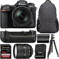 Nikon D500 20.9 MP DX-format Digital SLR Camera with AF-S 16-80mm f/2.8-4E ED VR Lens + Nikon MB-D17 Battery Grip Bundle