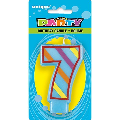 Price comparison product image Decorative Number 7 Birthday Candle by Unique Party