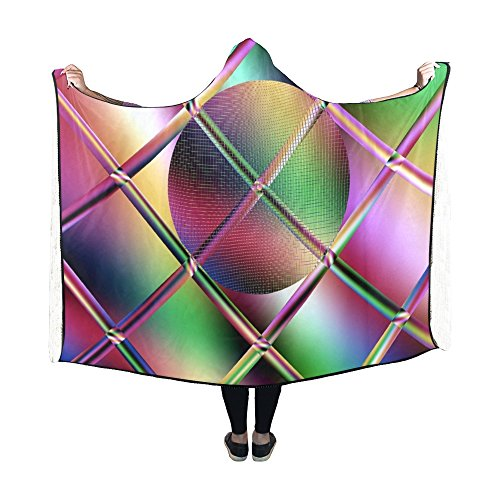 RYUIFI Hooded Blanket Fractal Artwork Abstract Pattern Design Blanket 60x50 Inch Comfotable Hooded Throw Wrap -