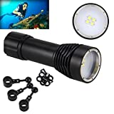 Vibola 8000LM 4x XML L2 LED Underwater 100M Scuba Diving Flashlight Torch 26650 Lamp(Not included Battery)
