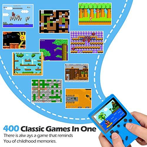 Gamory Console di Gioco Portatile Gameboy Portatile con 400 Giochi Classici LCD Classico da 3 Pollici per 2 Giocatori Supporto TV Console per Giochi Portatili 3 Ore+ per Bambini Adulti
