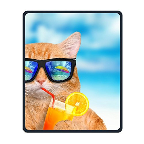 ZhiqianDF Cat Wearing Sunglasses Relaxing In The Sea Heavy Thick Mouse - Yoko Sunglasses