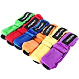 WINOMO 6pcs 3 Legged Race Bands Elastic Tie Rope Straps for Kids Legged Relay Race Game