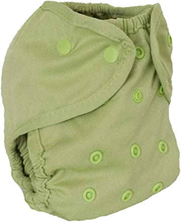 Buttons Cloth Diaper Cover - One Size (Aloe)