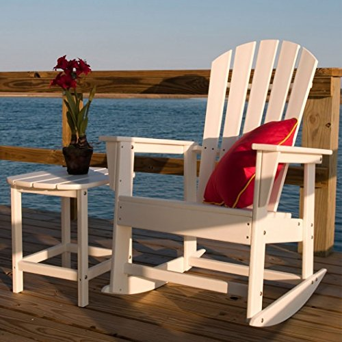 Poly-Wood South Beach Rocking Chair - White - Plastic