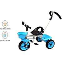 JoyRide Metal Tricycle with Parent Push Handle-Blue
