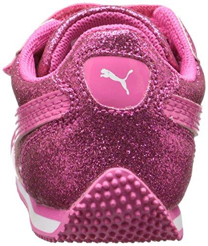 Puma Steeple Glitz Glam V Kids Sneaker (Toddler/Little Kid/Big Kid) Fandango Pink
