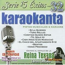 KARAOKANTA REINA TEXANA SERIE 15 EXITOS VOL.32 EDICION LIMITADA FORMATO CD+GRAFICAS