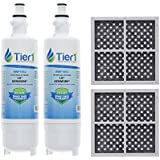 Tier1 Replacement LG LT700P ADQ36006101, ADQ36006102, Kenmore 46-9690, and LT120F Water and Air Filter Combo 2 Pack