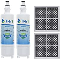 Tier1 Replacement for LG LT700P ADQ36006101, ADQ36006102, Kenmore 46-9690, and LT120F Water and Air Filter Combo 2 Pack