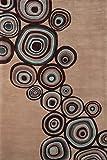 Nolita Rugs Aurora Hand Tufted Wool Mushroom Area Rug 2′ X 3′ For Sale
