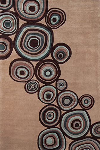 Momeni Rugs NEWWANW120MUS3656 New Wave Collection, 100% Wool Hand Carved & Tufted Contemporary Area Rug, 3'6