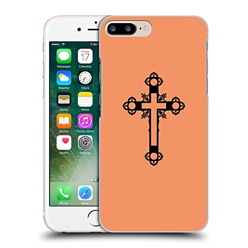 GoGoMobile Coque de Protection TPU Silicone Case pour // Q07900607 Christian Cross 15 Mandarine // Apple iPhone 7 PLUS