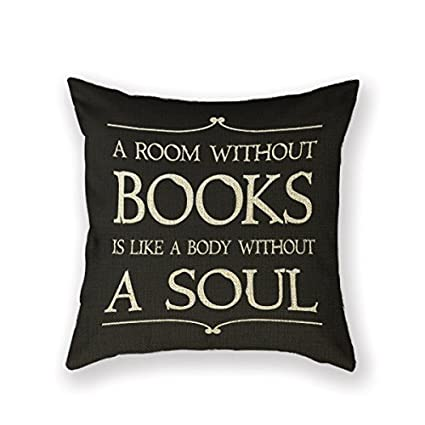 Customized Standard New Arrival Pillowcase Book Club Librarian Reading Group Books Throw Pillow 18 X 18 Square Cotton Linen Pillowcase Cover Cushion