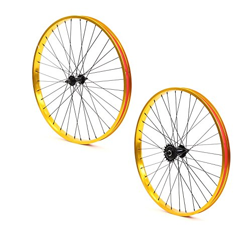 Set of Bicycle Rims (26x32mm; Front & Rear; Anodized Gold) by ZycleFix (Image #6)
