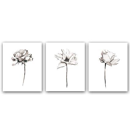 Amazoncom Blooming Lotus Flower Art Print Elegant Floral Art