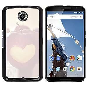LECELL -- Funda protectora / Cubierta / Piel For Motorola NEXUS 6 / X / Moto X Pro -- Minimalist Apple Heart --