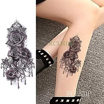 tzxdbh Etiqueta engomada Temporal Impermeable del Tatuaje Notas ...