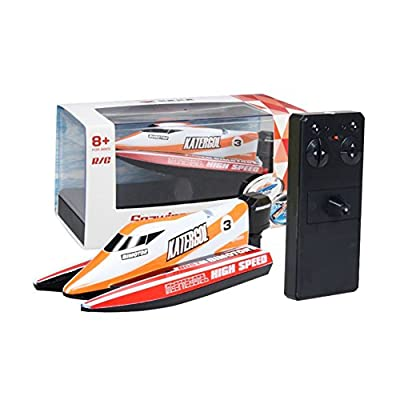 Forart Remote Control Boats for Pools and Lakes, 2.4GHz High Speed Remote Control Boat Toys for Kids, Adventure Racing Boat Toys for Adults & Kids Children's Day Gift: Home & Kitchen