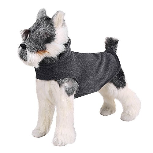 FOREYY Reflective Dog Fleece Coat with Velcro Closure and Leash Attachment Hole - Dogs Pet Autumn Winter Jacket Sweater Vest Apparel Clothes for Small Medium and Large Dogs(Gray,M)