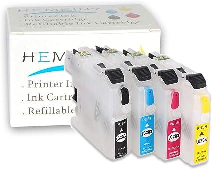 f-ink @ 4Pcs LC203 cartucho de tinta vacíos y rellenables uso para ...