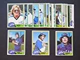 Chicago White Sox 1981 Topps Baseball Master Team Set with year end High Numbers (34 Cards) (Harold Baines Rookie Card) (Lamarr Hoyt Rookie Card) (Steve Trout) (Richard Dotson Rookie Card) and More