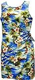 Pacific Legend Girls Diamond Head Ocean Wave Sarong Dress Blue 10