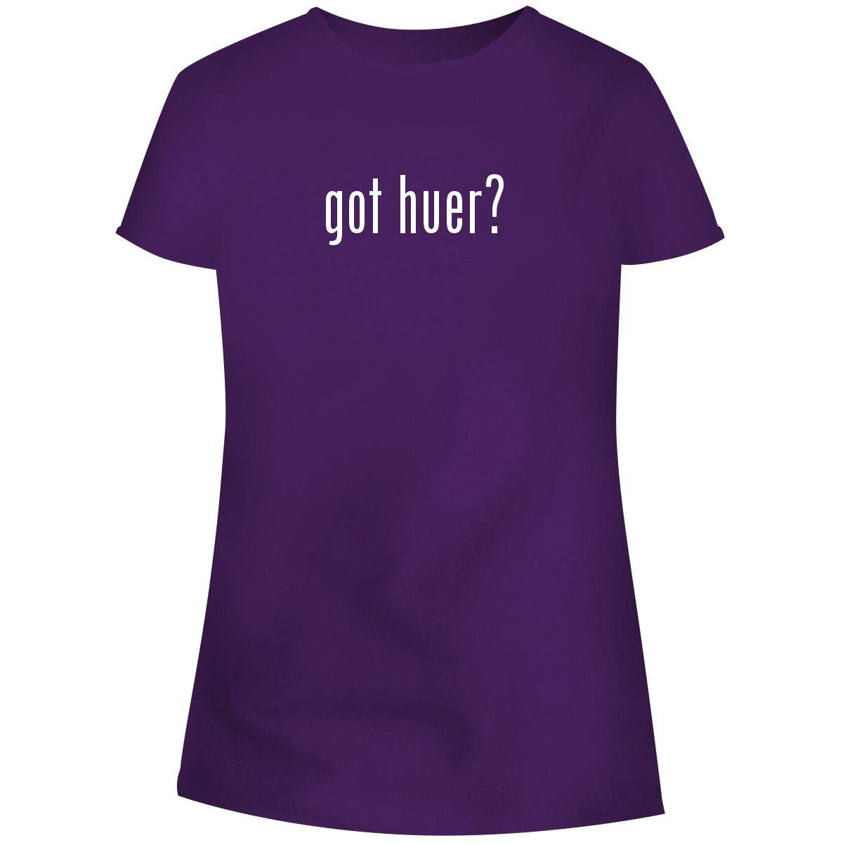One Legging it Around got Huer? - Women's Soft Junior Cut Adult Tee T-Shirt, Purple, Medium