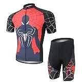 womens beer cycling jersey - Cplus Sportware Men's Short Sleeve Spiderman Cycling Gel Pad Jersey Set M