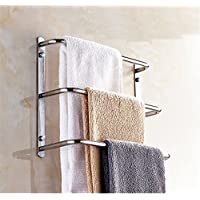 LONFENN Multi Layer Bathroom Towel Rack, Bathroom Multifunctional Towel bar, Stainless Steel Towel Rack, Bath Towel Rack, Ladder Type Circular Towel Rack