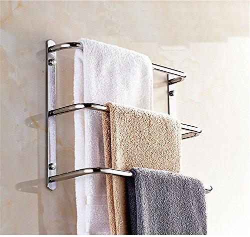 Multi layer bathroom towel rack, bathroom multifunctional towel bar, stainless steel towel rack, bath towel rack, ladder type circular towel rack,three layers,45cm