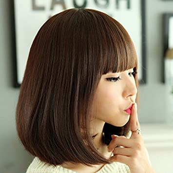 Amazon Com Limited Time Discount For Big Face Short Hair Wig