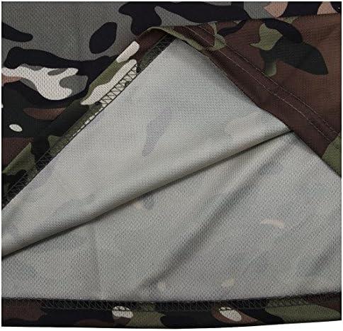 Vaorwne Nouvelle chasse de camouflage exterieur T-shirt Respirant pour homme Sport Camo Camp Tees CP Vert S