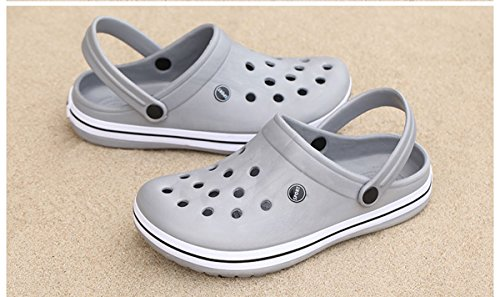 MOOKEY Slipper Sandals For Women and Men's Beach Shoes Unisex Indoor and Outdoor Slippers EVA Lightweight Grey dYNPQEOK