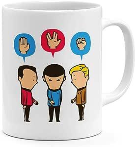 كوب قهوة مرح 11 أوقية فريق ستار تريك كلاسيك 325.3 مل من السيراميك الجدة