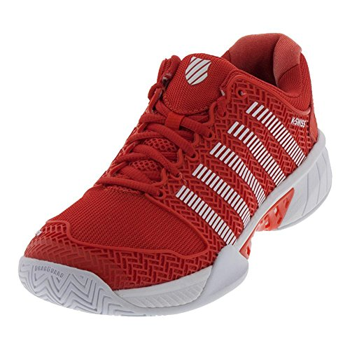 K-Swiss Women's Hypercourt Express Tennis Shoe Fiesta/White