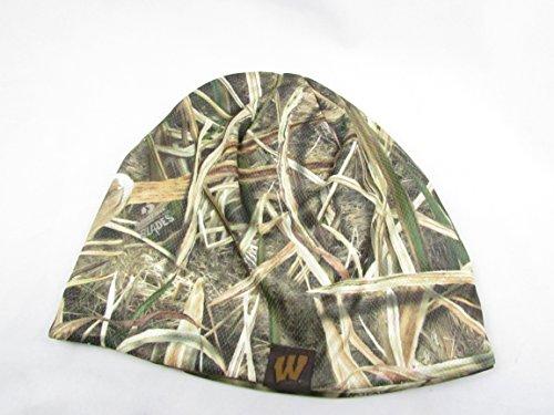 Mossy Oak Wisconsin Badgers Performance Fleece Mossy oak Shadow Grass Reversible to (Mossy Oak Reversible Hat)