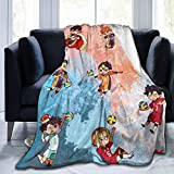 """Amy Fisherddd Haikyuu!! Throw Blanket Suitable Ultra Soft Weighted Bedding Fleece Blanket for Sofa Bed Office Travel Multi-Size (Multicolor, 50"""" x40(for Kids))"""