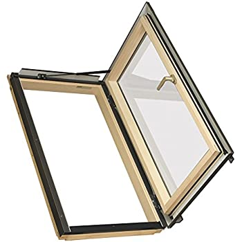 FAKRO FWU-R 69107 Egress Roof Window, 24-Inch x 38-Inch, Right Opening