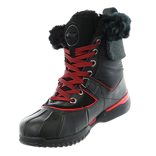 Pajar red Snow Krystal Winter grey Womens Leather Shoe black Boot Black black qFfqzUr