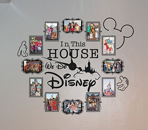 CL333 Disney Photo Vinyl Decal Clock (4