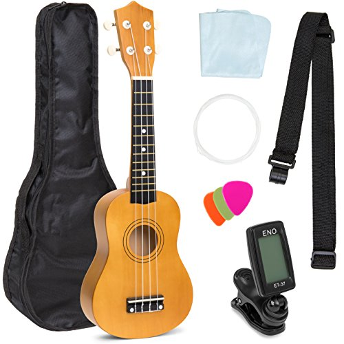 Best Choice Products 21in Acoustic Basswood Ukulele Starter Kit w/Gig
