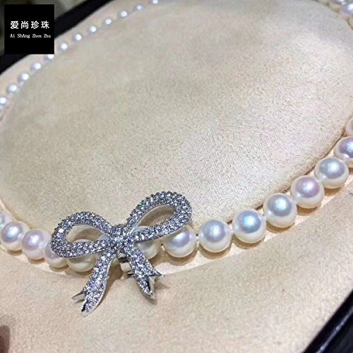 Love is still DIY accessories Note 14k gold Shi Shi same paragraph elegant elegant pearl necklace pendant clasp butterfly buckle women girls (14k Gold Fringe)