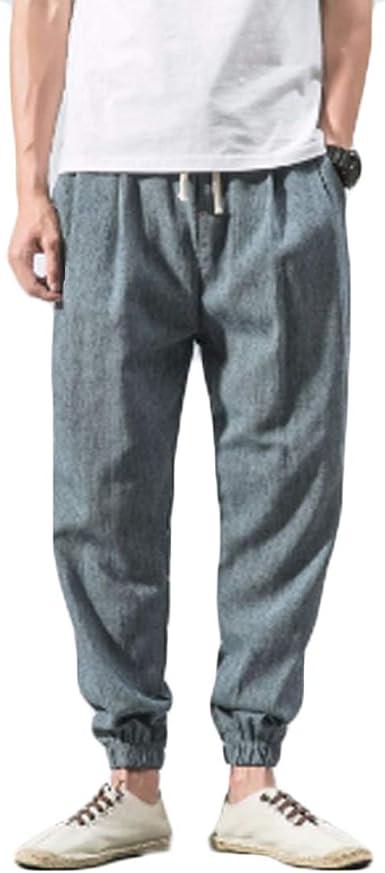 Inlefen Pantalones de Playa para Hombre Pantalones de harén de ...
