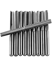 10pcs 3.175mm Tungsten Carbide End Mill CNC Milling Cutter Double Straight Flutes Rotary Burrs Set